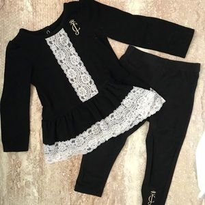 Juicy Couture set (black and white)